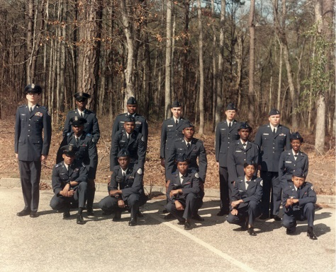 Cadets by woods