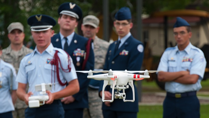 JROTC Cadets Fly Multicopter
