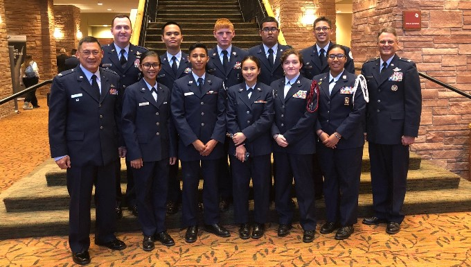 GU-051, CA-946 Cadets and Instructors with Col Lips at StellarXplorers Awards Ceremony