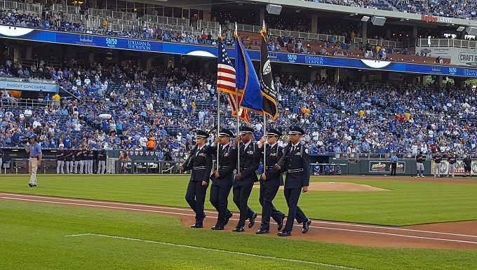 Blue Springs South High School (MO-941) Color Guard for KC Royals
