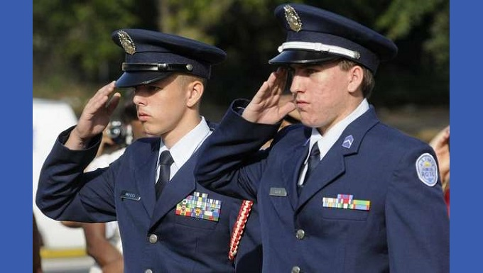 Two Cadets Saluting