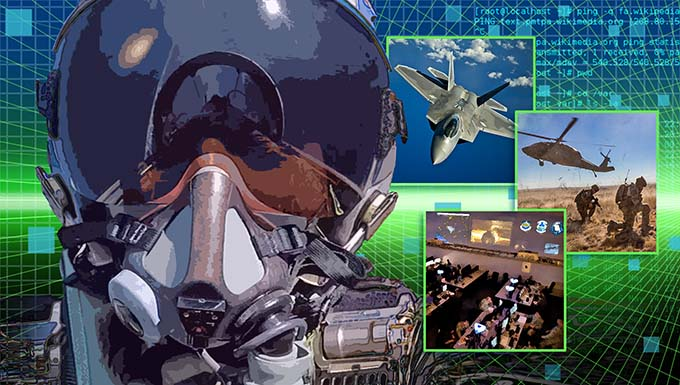 Science and Technology Enablers of Live Virtual Constructive Training in the Air Domain