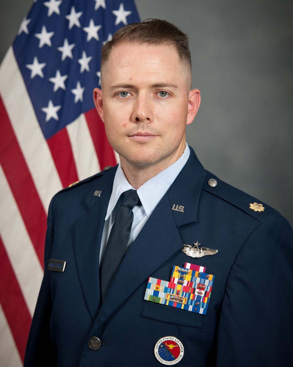 Photo of Maj Nicholas T. G. Narbutovskih, USAF