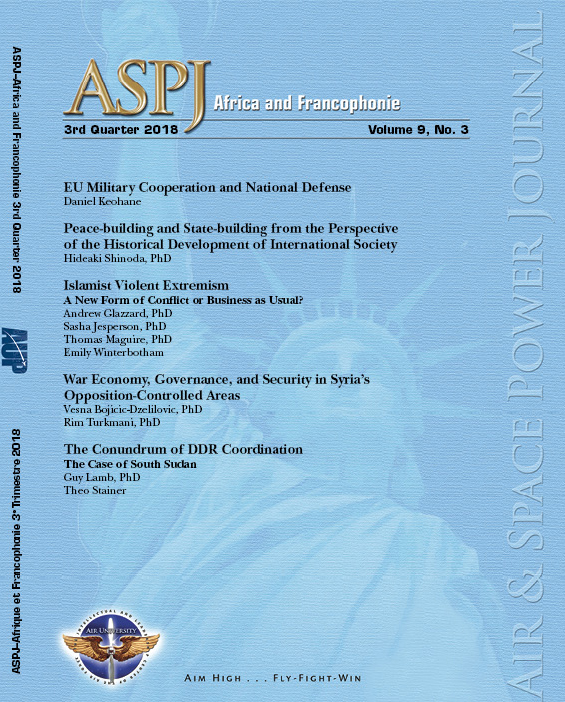 ASPJ A&F Journal cover Q3 2018