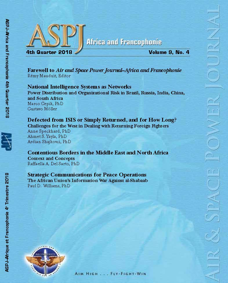 ASPJ A&F Journal cover Q4 2018