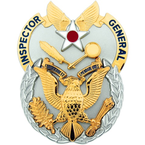 Inspector General Duty Badge