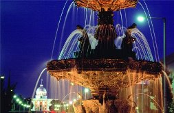 Photo of fountain, downtown Montgomery, Alabama