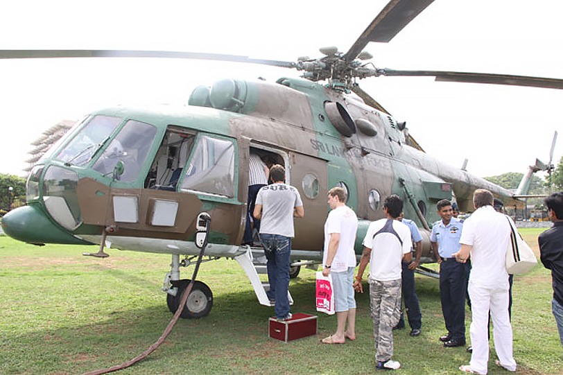 The Sri Lankan Air Force operates a commercial arm, Helitours. The operation uses rotary and fixed-wing aircraft not required for military use. It is currently the second-largest airline in Sri Lanka. (photo courtesy of the Sri Lankan Air Force).