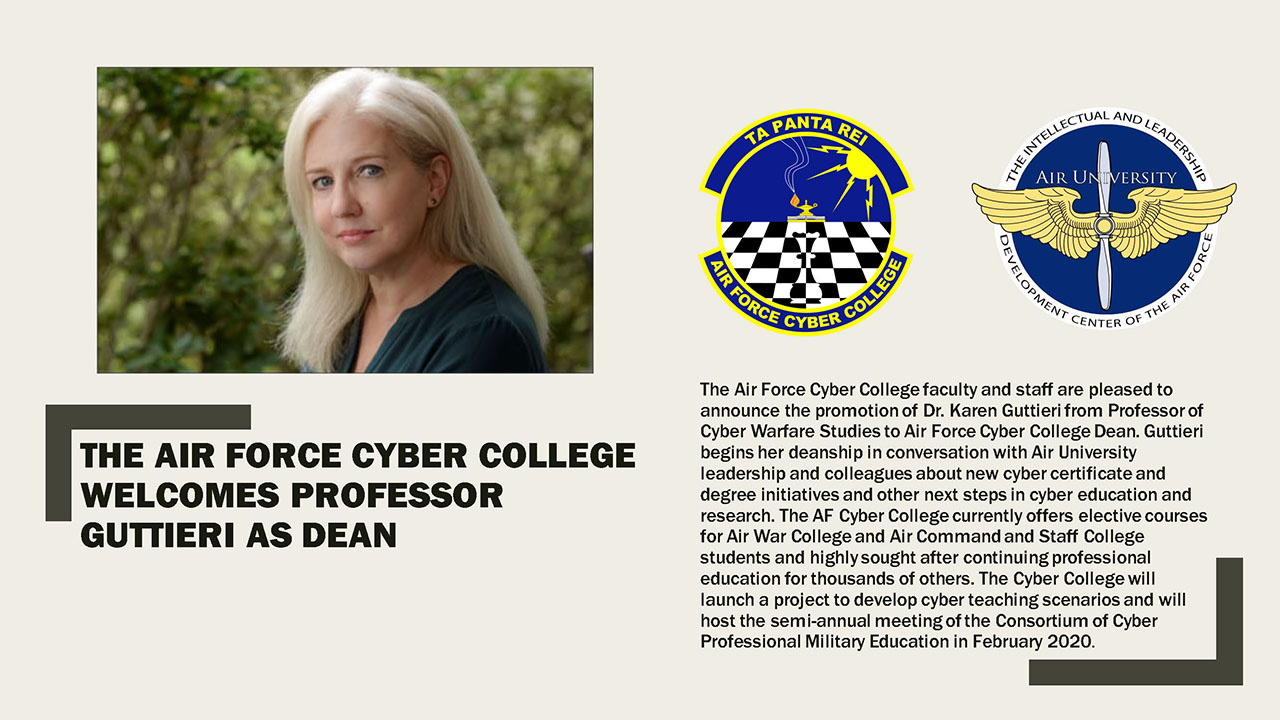 Air Force Cyber College Welcomes New Dean
