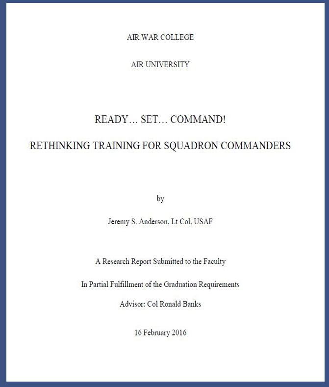 Rethinking Squadron Command Training