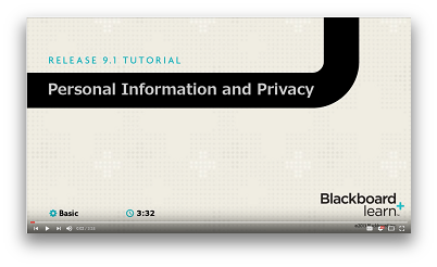Watch a video on updating personal information in Blackboard
