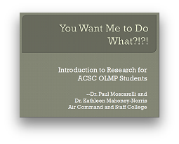 View the 16 slide pdf presentation on the research paper process