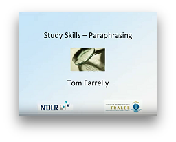 View Video on Paraphrasing