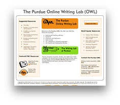 View the Purdue Online Writing Lab